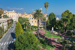 Panoramic view of downtown, Grasse is the world perfumes capital Stock Images