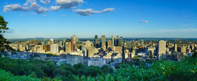 Panoramic view of the Downtown Montreal stock photos
