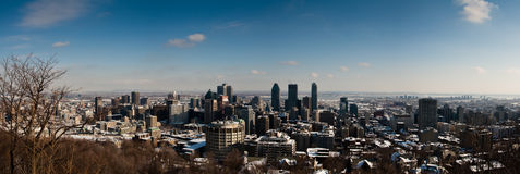 Montreal in winter Royalty Free Stock Photography