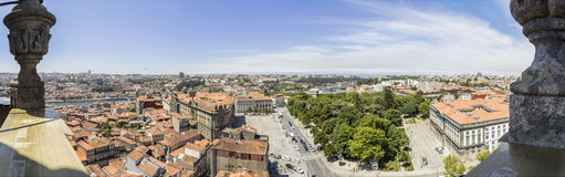 Panoramic view of downtown, Porto city, UNESCO World Heritage Site Royalty Free Stock Photography
