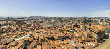 Panoramic view of downtown, Porto city, UNESCO World Heritage Site Stock Images
