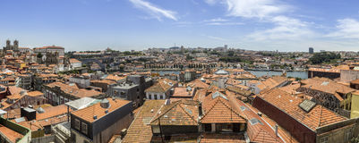 Panoramic view of downtown, Porto city, UNESCO World Heritage Site Royalty Free Stock Photo