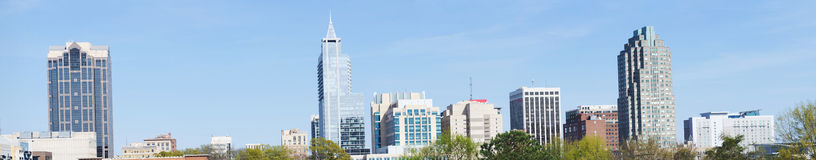 Panoramic view on downtown Raleigh, NC Stock Images
