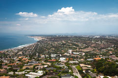 La Jolla village with the ocean view. Panoramic view of downtown of San Diego - beautiful La Jolla village with coastline stock photos