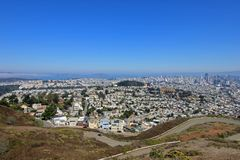Panoramic view of downtown San Francisco from Twin Peaks, USA Stock Photography