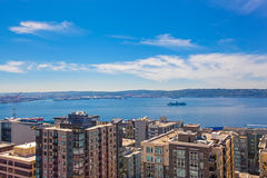 Panoramic view of downtown of Seattle during summer time, Washin Royalty Free Stock Photos