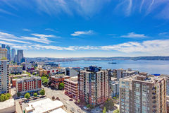 Panoramic view of downtown of Seattle during summer time, Washin Stock Photography