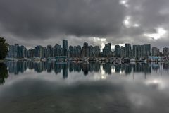 Downtown Vancouver Skyline - Vancouver, Canada royalty free stock images