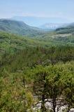 Panoramic view of Draga Bascanska valley and Baska at Krk Royalty Free Stock Photos