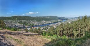 Panoramic view of Drammen Royalty Free Stock Photos