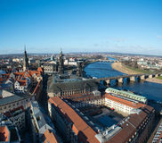 Panoramic view of Dresden Stock Photo