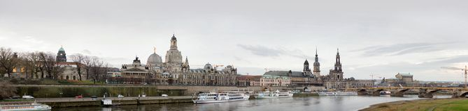 Panoramic view of Dresden, Germany, December 2017 Royalty Free Stock Image