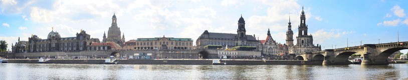 Panoramic view of Dresden Royalty Free Stock Photo