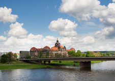 Panoramic view of Dresden and the river Elbe Royalty Free Stock Image