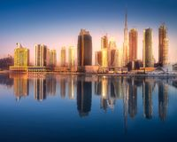 Panoramic view of Dubai Business bay, UAE Royalty Free Stock Image