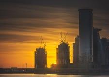Panoramic view of Dubai Business bay, UAE royalty free stock photo