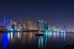 Panoramic view of Dubai Marina Royalty Free Stock Photos