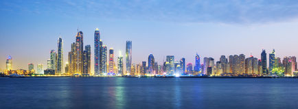 Panoramic view of Dubai Stock Images