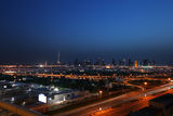 A panoramic view of Dubai, United Arab Emirates Royalty Free Stock Images