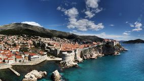 Panoramic View of Dubrovnik City, Croatia Royalty Free Stock Photography