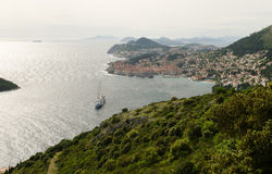 Panoramic view of Dubrovnik city Stock Images