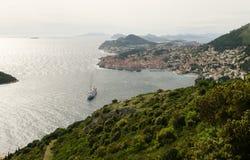Panoramic view of Dubrovnik city. A panoramic view of an old city of Dubrovnik, Croatia Stock Images