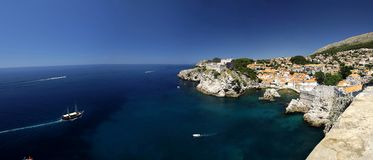 Panoramic view of Dubrovnik city Royalty Free Stock Images