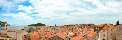 Panoramic view of Dubrovnik Stock Image