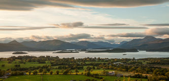 Panoramic view from Duncryne Hill over Loch Lomond Stock Image