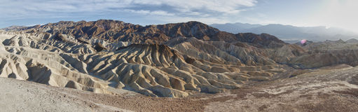Panoramic view of dunes in death valley Royalty Free Stock Photo