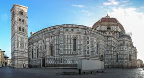 Panoramic view of Duomo in Florence, Italy. royalty free stock image