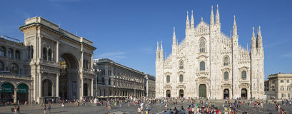 Panoramic view of Duomo Stock Photo