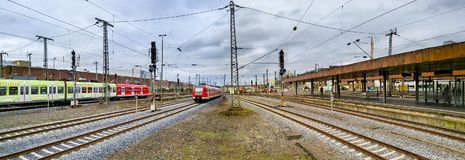 Panoramic view of Dusseldorf, Germany royalty free stock photos