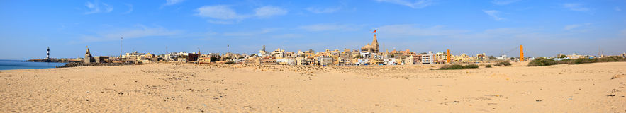 Panoramic view of Dwarka Stock Photography