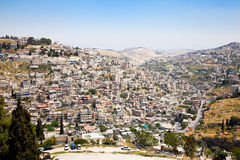Panoramic view on East-Jerusalem Royalty Free Stock Images