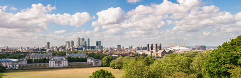 Panoramic view of eastern London Stock Image