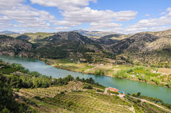 Panoramic view of the Ebro River, Spain stock photos