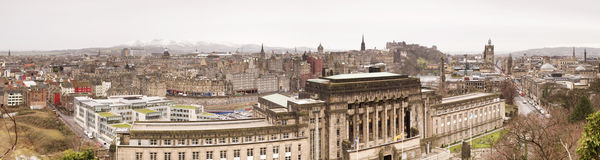 Panoramic view of Edinburgh Stock Photography