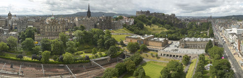 Panoramic view of Edinburgh city, Scotland, UK Stock Photos