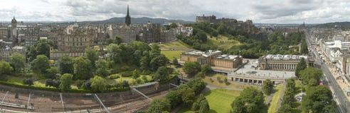 Panoramic view of Edinburgh city, Scotland, UK Stock Photos