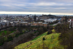 Panoramic view of Edinburgh from Edinburgh Castle, Scotland Stock Images