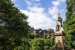 Edinburgh. Panoramic view of Edinburgh, Scotland Stock Image