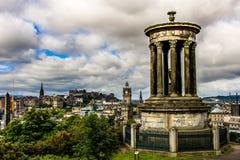 Edinburgh. Panoramic view of Edinburgh, Scotland Stock Images
