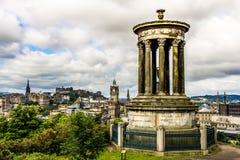 Edinburgh. Panoramic view of Edinburgh, Scotland Stock Photos