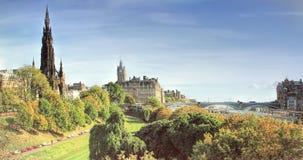 Panoramic view of Edinburgh, Scotland, UK Stock Images