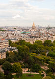 Panoramic view from Eiffel tower. Panoramic view of Paris from the top of Eiffel Tower Stock Image