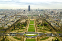 Panoramic view from the Eiffel Tower. In Paris Royalty Free Stock Photography