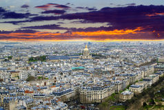 Panoramic view from the Eiffel Tower. In Paris Stock Images