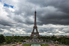 Panoramic view of The Eiffel Tower in Paris, France Royalty Free Stock Images