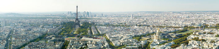 Panoramic view of the Eiffel tower, Paris, France, Europe. Stock Photo